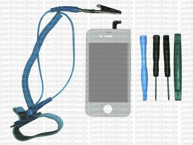 iPhone 4 Glas Reparatur Do-it-yourself-Set weiss