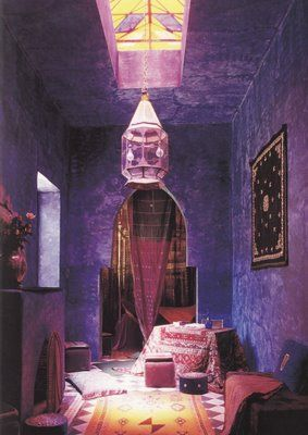 The idea of a purple room in the right space is rather appealing. Artsy feel that grabs attention.