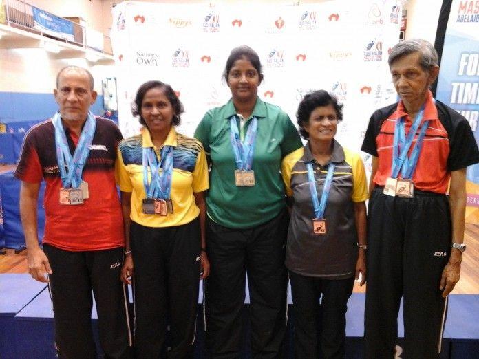 Table Tennis: Veteran players bag 16 medals at Australian Masters