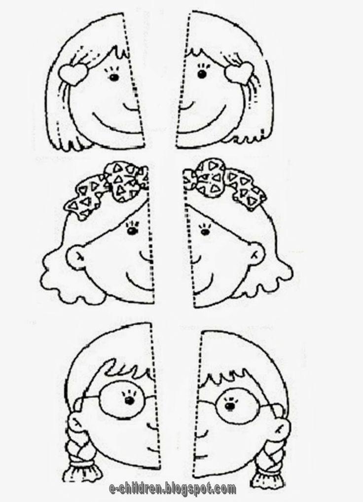 polovice tváry puzzle