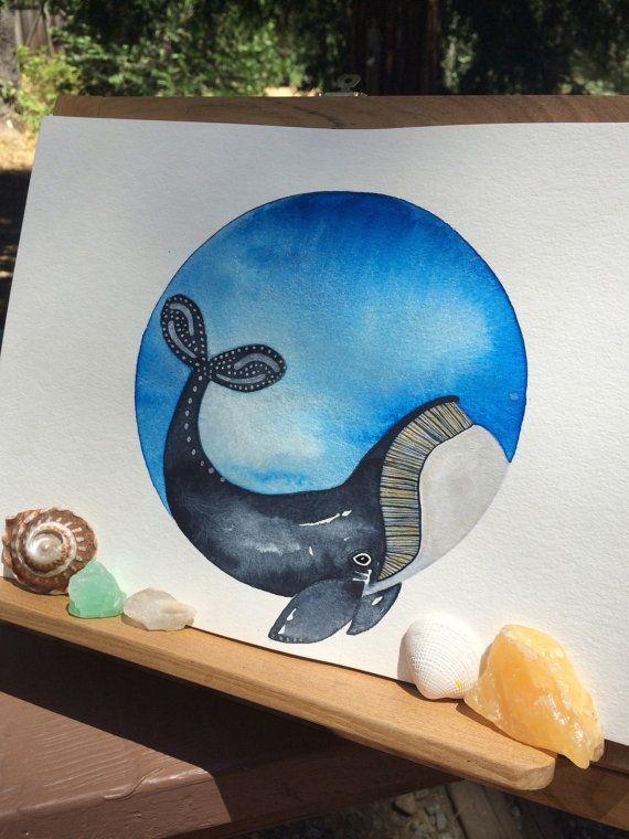 Baleine boréale par lulusLoungeArt sur Etsy