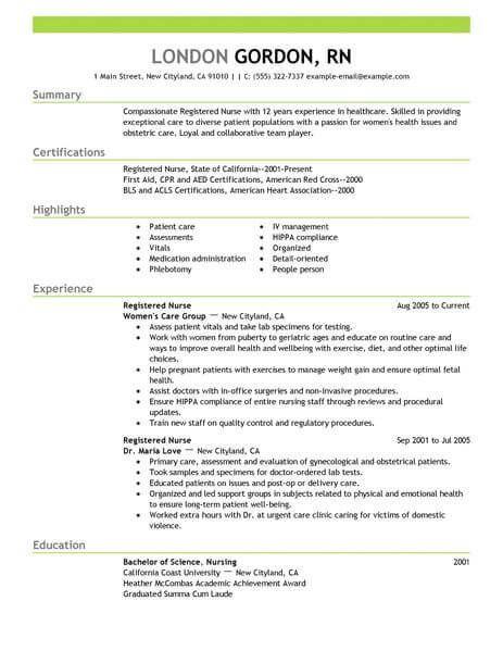 Resume Templates Healthcare Healthcare Resume Resumetemplates