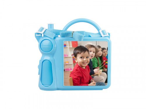 Personalised Children's Lunchbox with Water Bottle and Handle - Blue  Premium quality coloured plastic lunch box for children Comes with a water bottle that is held securely inside when the...@ artfire