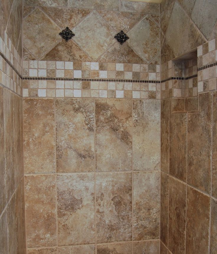 Tile pattern ideas neutral bathroom ceramic tile design for Shower room floor tiles