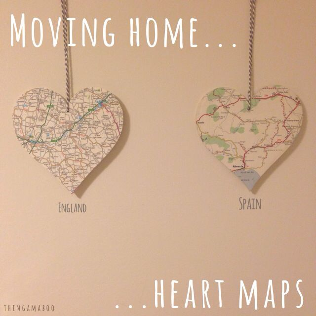 94 best moving images on pinterest gift ideas diy presents and heart map moving away gift negle Choice Image
