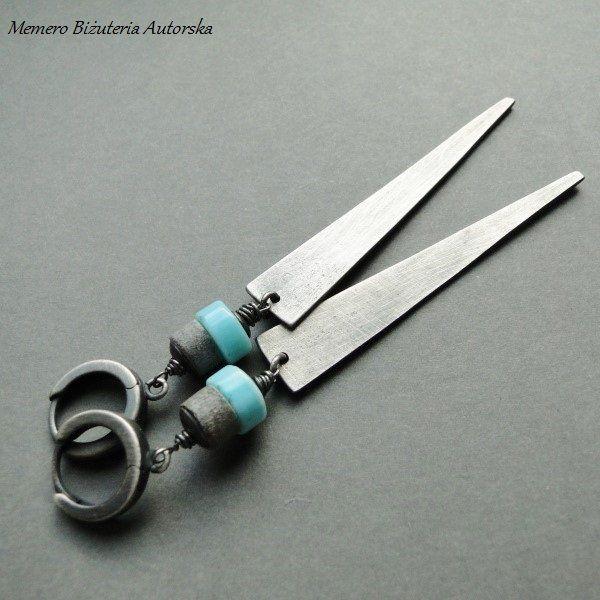 Kolczyki Opal z muszlą szarą (sprzedawca: Memero Biżuteria autorska), do kupienia w DecoBazaar.com