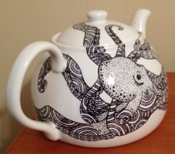 Octopus Large Teapot 6 cup capacity by DeadHandCrafts on Etsy