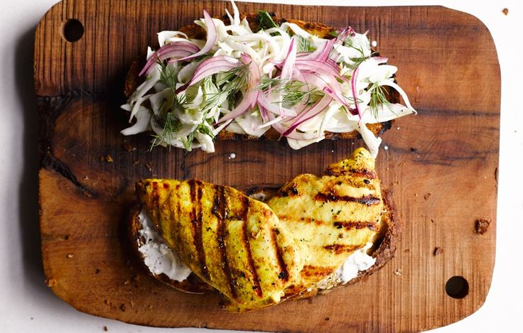 Burgers aren't the only grilled things we want to eat with our hands. Thanks to a flavorful brine and a supershort cook time, sandwich-friendly boneless breasts take on a whole new life between two slices of bread.