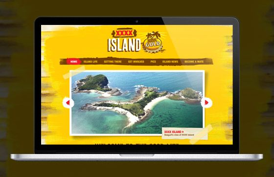 Project: XXXX Island Client: Lion Nathan  XXXX Island was set up so XXXX drinkers could enjoy the ultimate mates' weekend away. We created an iPad app that XXXX Island girls took into bars, encouraging punters to enter to win an island holiday man dreams are made of.