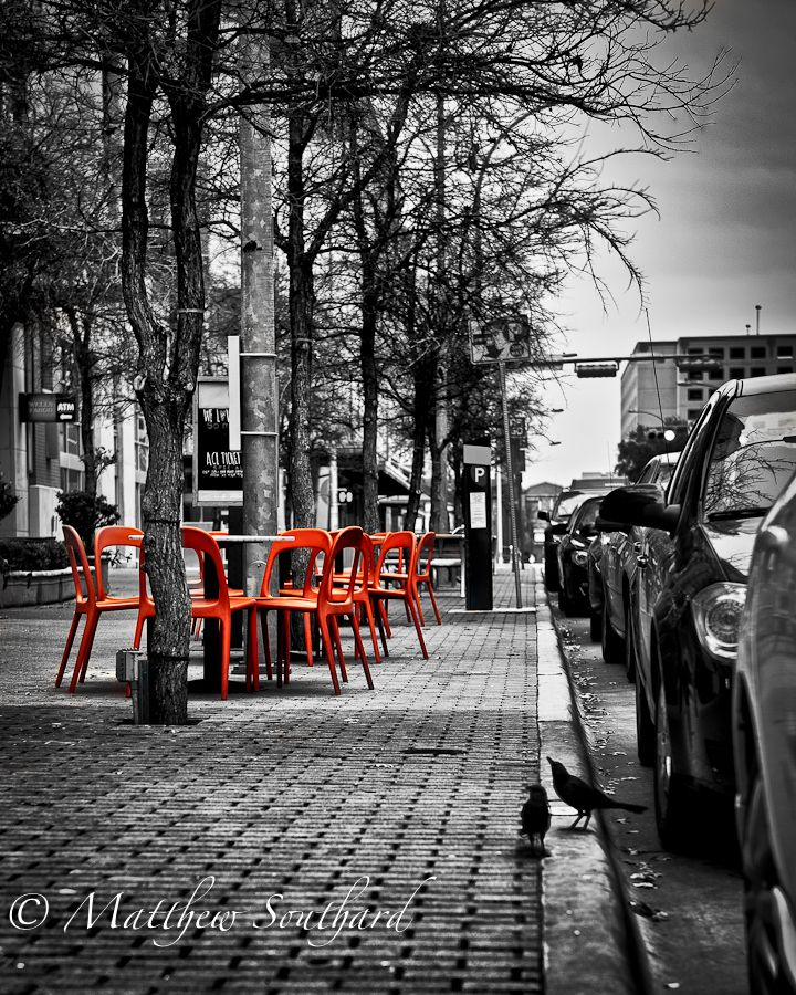 Like sitting on the streets in venice with a cup of coffee street photographycreative photographyart photographycolour splashred blackcolor
