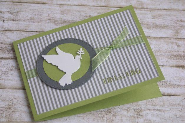 Einladungskarten - Karte Einladung Konfirmation / Kommunion - ein Designerstück von Das-Werk-der-Feen bei DaWanda