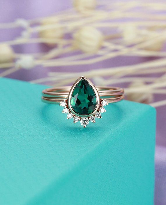 Gorgeous Blue Turquoise Ring Women Wedding Birthday Engagement Jewelry Gift
