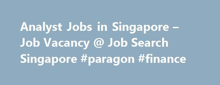 Analyst Jobs in Singapore – Job Vacancy @ Job Search Singapore #paragon #finance http://finance.remmont.com/analyst-jobs-in-singapore-job-vacancy-job-search-singapore-paragon-finance/  #finance analyst jobs # 183Analyst jobs MACHINE LEARNING SPECIALIST (Data Scientist) Central Login to view salary My client is one of the big players in the transportation industry in the region and this role will be part of their very dynamic Data Science team as a Senior/Lead Data Scientist, specializing in…