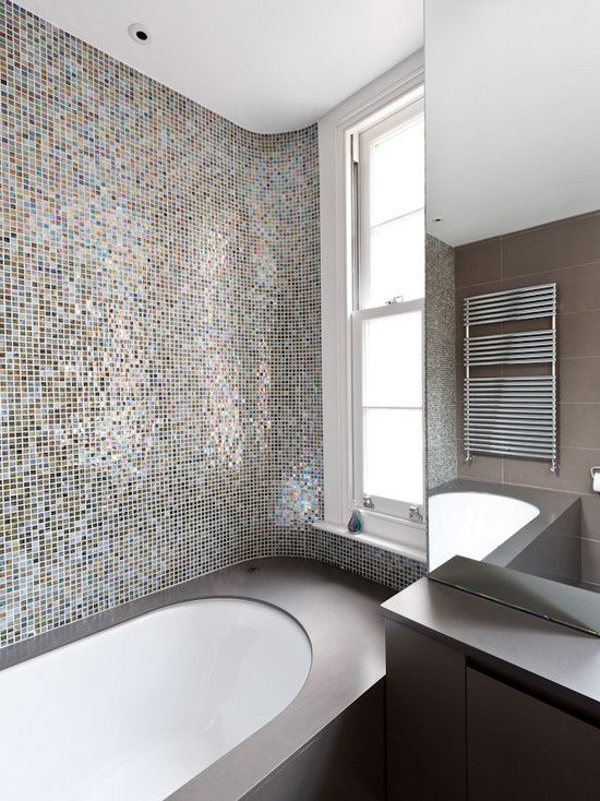 tile curved bathroom surface design pictures remodel decor and ideas - Mirror Tile Bathroom Decor