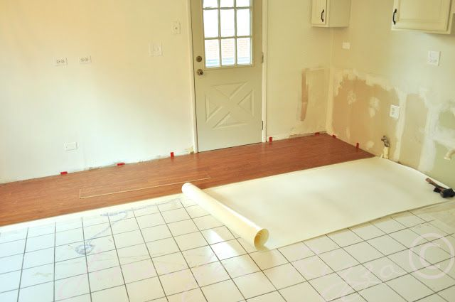 You CAN lay laminate over ceramic tile !!! Thank. Baby. Jesus.
