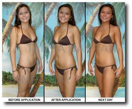 Tampa Bay Spray Tan. Before and after photos. #