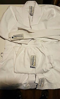 Karate Uniform Kids White Youth Small White