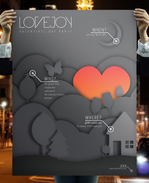 Lovejoy - Music & Event Flyer by anderworks , via Behance