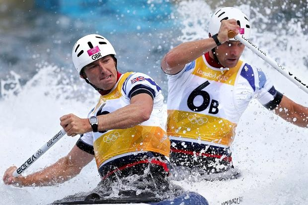 David Florence and Richard Hounslow won silver in the mens canoe double
