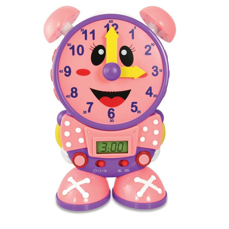 The Learning Journey Telly The Teaching Time Clock - Pink