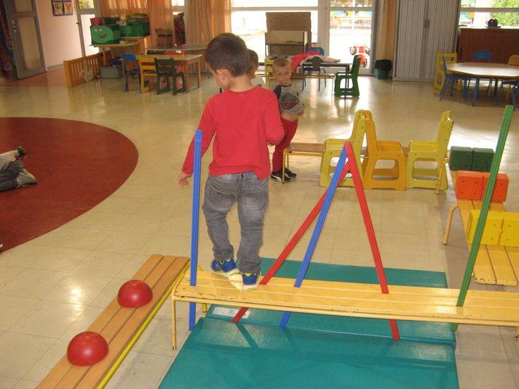 Parcours pour trouver l' équilibre en mouvement