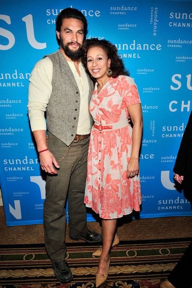 Jason Momoa and Tamara Tunie attends TCA Presentation of Sundance Channel's 'The Red Road' which premieres February 27 at Langham Hotel on J...