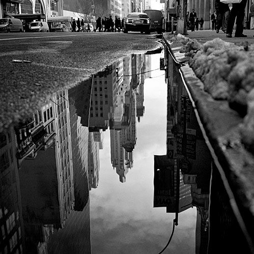 Best Street Photography Images On Pinterest Nyc Amazing - Photographer captures the amazing reflections of puddles in new yorks streets