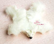 Gratis verzending! ~~ zachte witte beer tapijt tapijt poppenhuis miniatuur mooie(China (Mainland))