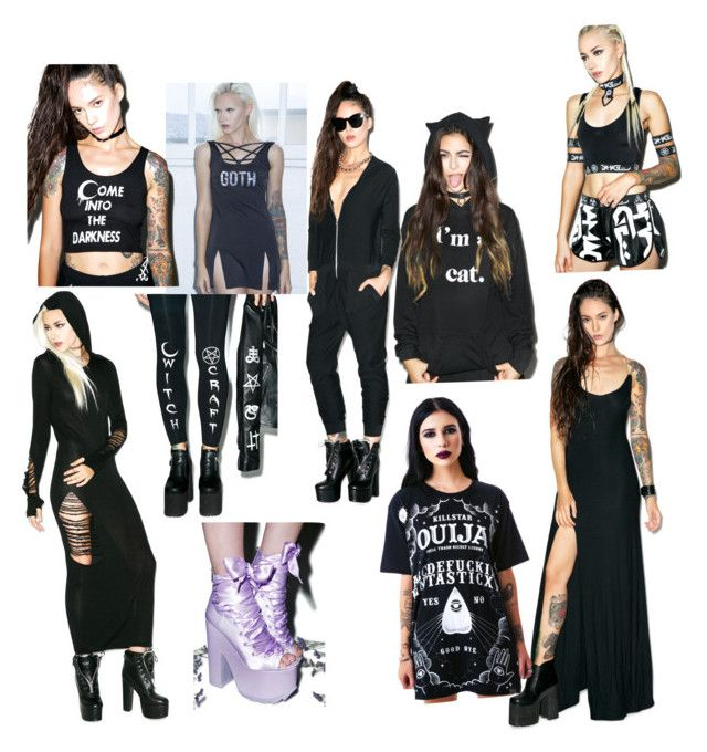 """Dollskill❤️"" by averythurman ❤ liked on Polyvore featuring Kill Star, Y.R.U., Black Hope Curse, Wildfox, Forplay, women's clothing, women's fashion, women, female and woman"