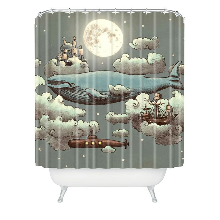 Terry Fan Ocean Meets Sky Shower Curtain | DENY Designs Home Accessories