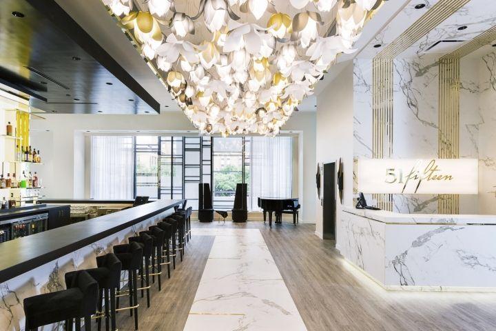 LightArt Blossom Pendants at 51Fifteen resturant, Houston – Texas » Retail Design Blog