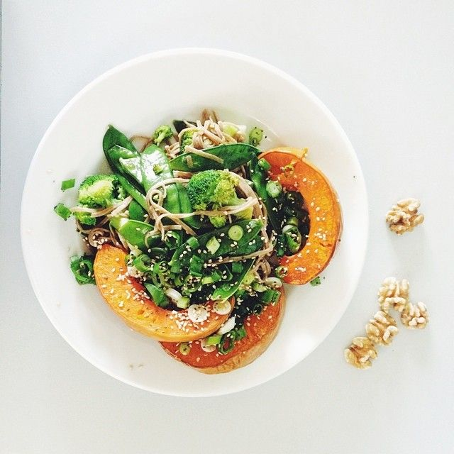 Roast Pumpkin and Buckwheat Noodles from the I Quit Sugar 8-Week Program.