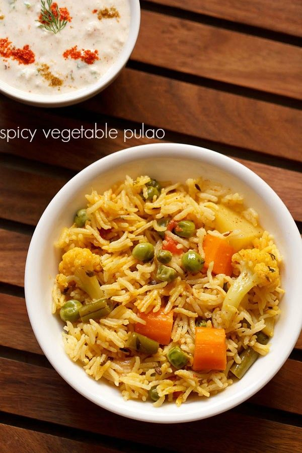 spicy vegetable pulao recipe, how to make spicy veg pulao recipe