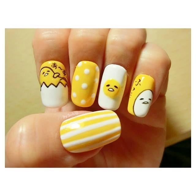 Gudetama Nails Art