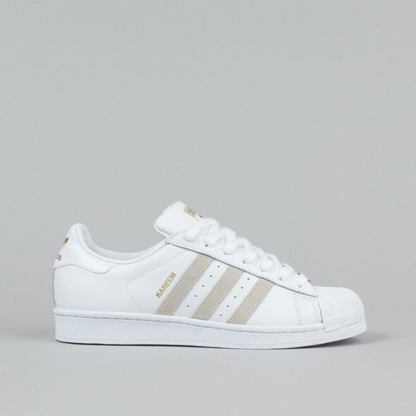 Adidas Superstar RT Kareem Campbell Shoes White White ❤ liked on Polyvore featuring shoes, adidas, sneakers, white shoes, adidas footwear and adidas shoes