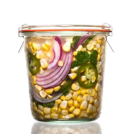 Jalapeño-Cilantro Pickled Corn Recipe | Think of crunchy, tangy, no-hassle quick pickles as the gateway to all things preserved.