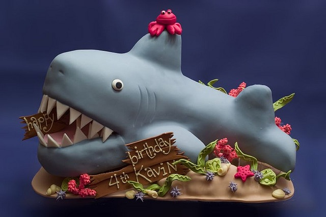 Shark Cake by studiocake, via FlickrKids Parties, Water Cake, Birthday Parties, Sharks Parties, Cake Ideas, Cake Decor, Sharks Birthday, Parties Ideas, Sharks Cake