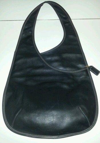 COACH-collectors-RARE-BLACK-LEATHER-BONNIE-CASHIN-BODY-BAG-9074-recreated