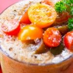 You may not think of tomatoes as a traditional smoothie ingredient, but they add fresh taste and nutritional value to a smoothie. This savory smoothie will keep your blood sugar levels stable for hours. I added a jalapeno pepper for some kick, but you can leave it out if hot ...