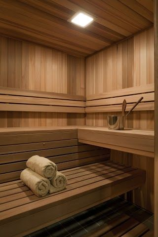 Sauna room ideas Can't wait for my girls to come over and sit in the sauna! Girl spa time at mi Casa!