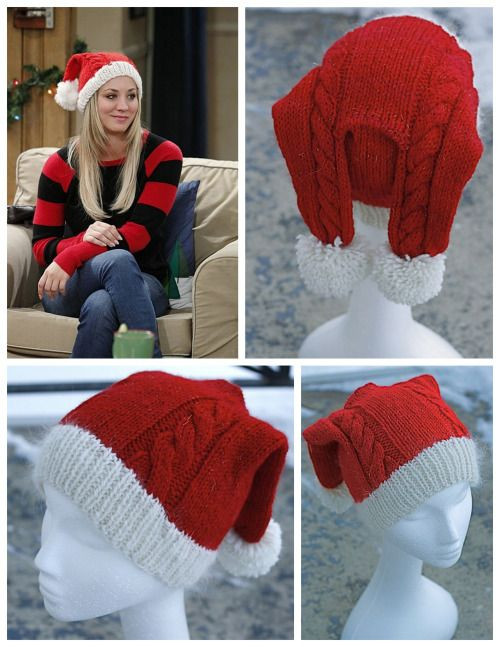 DIY Knit Penny's Hat from The Big Bang Theory Free Pattern from...