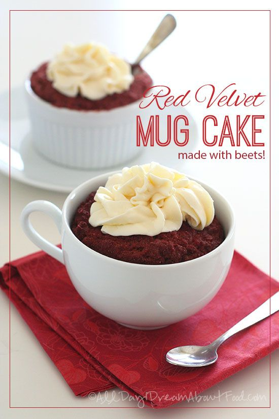 Gluten-Free Red Velvet Mug Cake Recipe made with beets