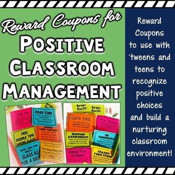 Reward Coupons for Positive Classroom Management & Positiv