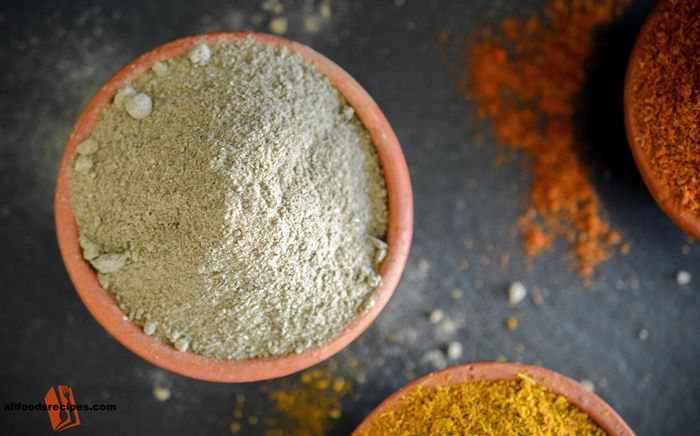 Chat Masala – It's a mixture of many Indian spices which is used to spice up any salad, snacks or condiments for a mouthwatering taste. #chatmasala #spice    RECIPE : http://www.allfoodsrecipes.com/recipe/chat-masala/