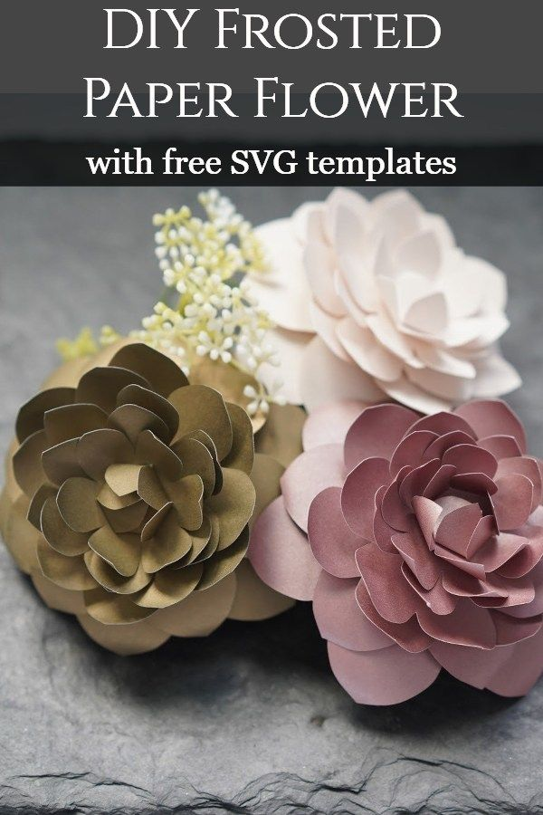 Diy Paper Camellia With Free Flower Template Paper Flower Wreaths Handmade Flowers Paper Paper Flowers Diy