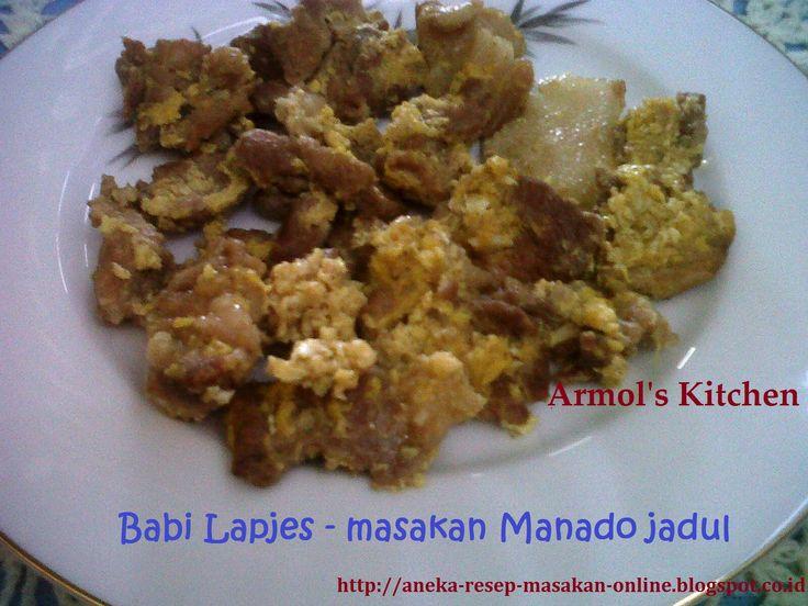 BABI LAPJES    Masakan Babi jaman kolonial ini, dimasak dengan bawang putih, telur dan aneka bumbu lainnya.  yuk simak resepnya http://aneka-resep-masakan-online.blogspot.co.id/2015/10/resep-lapjes-daging-ala-manado.html