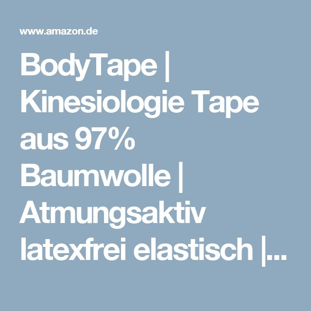 BodyTape | Kinesiologie Tape aus 97% Baumwolle | Atmungsaktiv latexfrei elastisch | hautfreundliche Bandage für Physiotherapie, Sport & Freizeit | 1 Rolle (5cm x 5m) | Beige: Amazon.de: Drogerie & Körperpflege