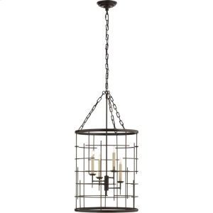CHC1477AI in Aged Iron by Visual Comfort in Bowling Green, KY - Visual Comfort CHC1477AI E.F. Chapman Copene 4 Light 18 inch Aged Iron Foyer Lantern Ceiling Light, E.F. Chapman, Medium, Round