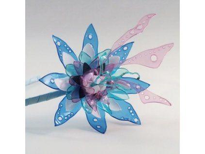 Fascinátor modro růžový