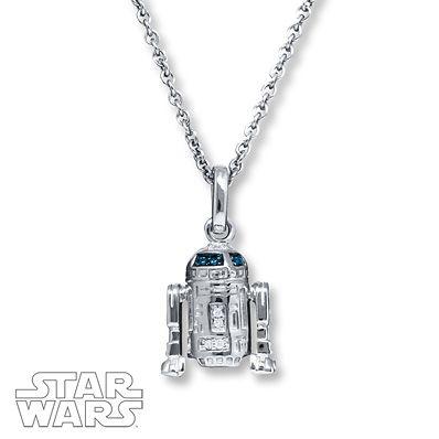 Star Wars Necklace R2-D2 10K Yellow Gold DQuMJKcxHP